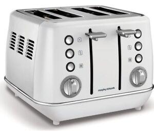 Morphy Richards Evoke White 4 Slice Toaster 240113