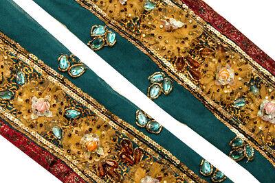 Antique Ribbon By 1 Yard ST1921 Ethnic Indian Trim Sari Border Vintage Ribbon