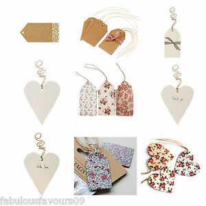 Vintage-Wedding-Gift-Craft-or-Luggage-Tags-Table-Name-Cards-Wrapping ...