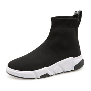 Women-Boots-Outdoor-Casual-Sock-Shoes-Sneakers-High-Top-Ankle-Boots-Short-Shoes