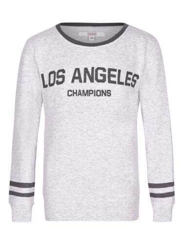 New Girls Light Grey Sweatshirt Jumper  Various Ages 2-8 Free Postage