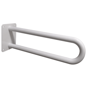 Stützgriff am WC oder Waschbecken für barrierefreies Bad weiß 60 cm ⌀25 mm Griff
