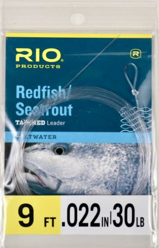 Rio Tapered Leader Redfish Seatrout Fly Fishing Saltwater 9ft All Sizes