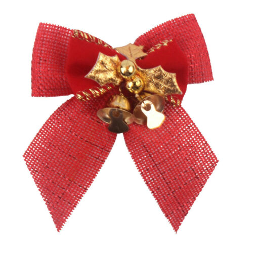 Christmas Bow With Iron Bells Christmas Wreath With Christmas Tree Decorations