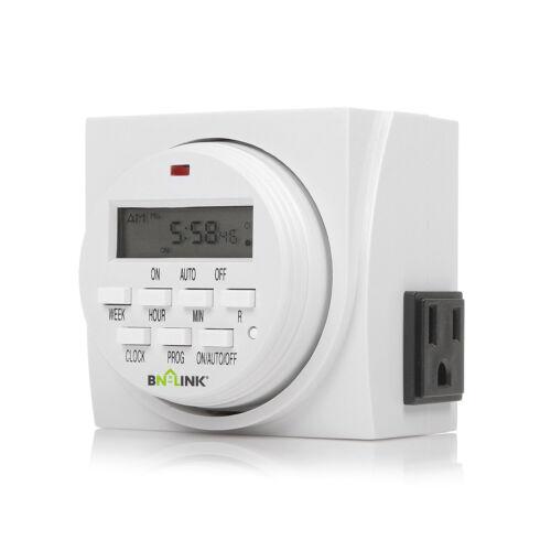 Siècle Heavy Duty Digital électrique Programmable Double Outlet minuterie Plug Indoor