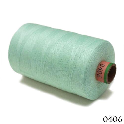 Amann 100/% Polyester Core-Spun Sewing Thread Sabac 80 1000M Color 406 Light Blue