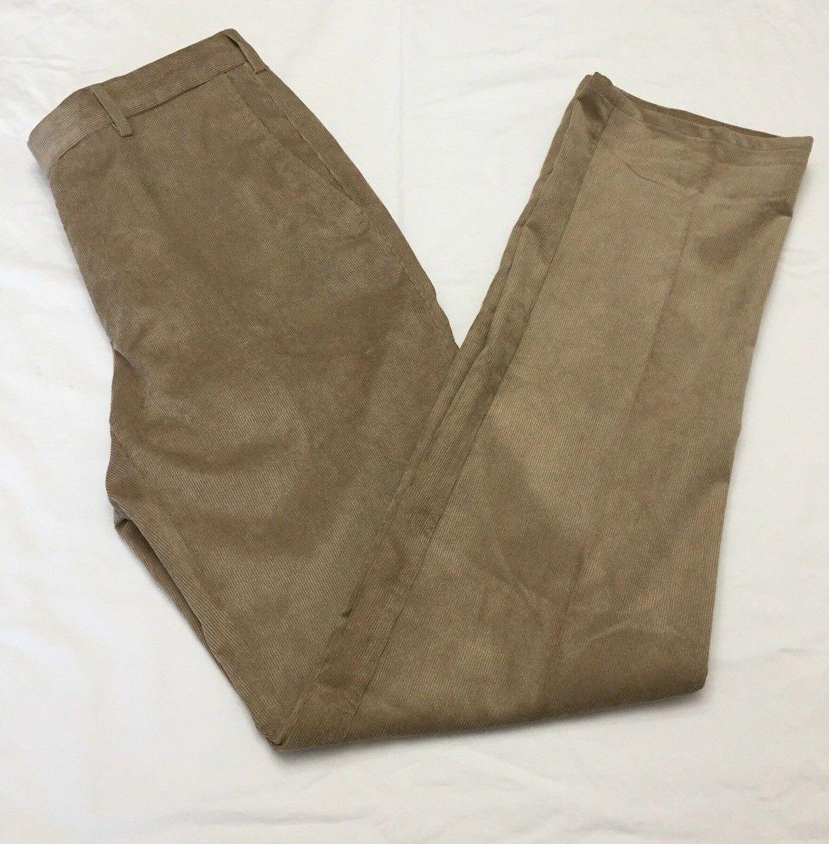 Peter Millar Mens 32x35 Nanoluxe Corduroy Pants Tan
