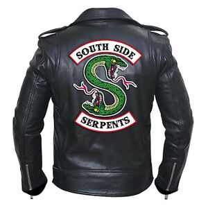 Riverdale-Southside-Serpents-Gang-Mens-Black-Biker-Jacket-with-Free-Shipping
