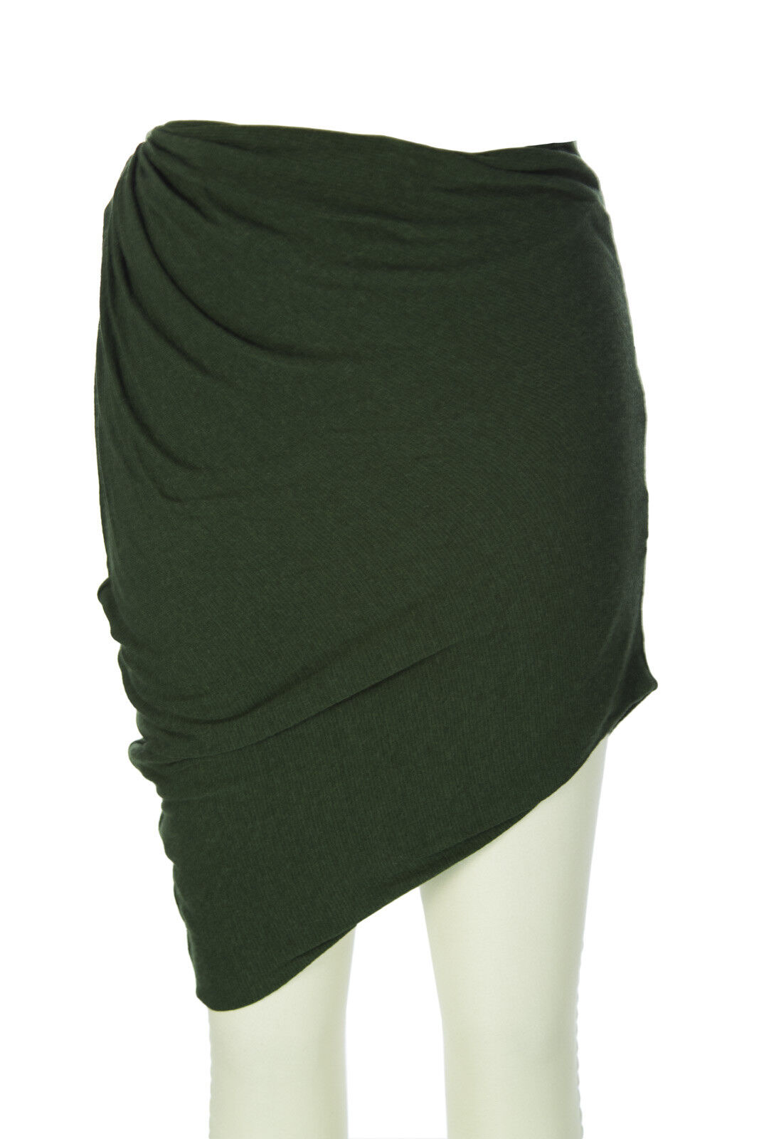 SURFACE TO AIR Women's Bottle Green Drop Skirt NEW