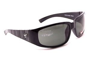 New 7 EYE DUKE Sunglasses Gloss Black Frames/ Gray Polarized Lenses by Panoptx
