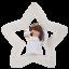Vivid Arts-Suspension étoile de Noël-Ange-décoration