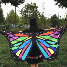 Colorful Fabric Butterfly Wings Fairy Ladies Nymph Pixie Costume Accessory T3
