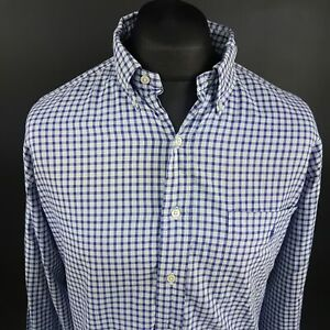 Ralph-Lauren-Mens-Vintage-Shirt-17-34-35-2XL-Long-Sleeve-Blue-Classic-Fit-Check