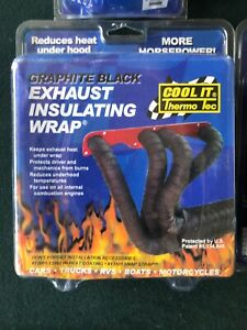 """Thermo Tec 11022 Exhaust Insulating Black  Header Wrap 2/"""" Wide 50ft"""