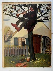 Trumpeter in Tree Jugend Magazine 1906 Issue 52 Jugenstil Art Nouveau graphics