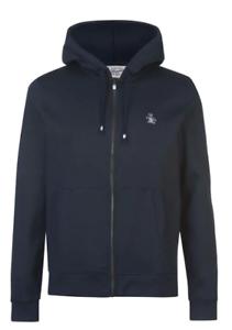 Pinguin-Full-Zip-Hoody-Jacke-Herren-Groesse-UK-Small-Navy-ref107
