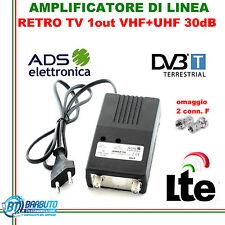 AMPLIFICATORE SEGNALE TV UHF 30db 1out  MIGLIORA/POTENZIA IL SEGNALE TV AMS2/1U