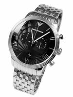 Emporio Armani Mens Chronograph Watch Stainless Steel Bracelet Black Dial Ar1617