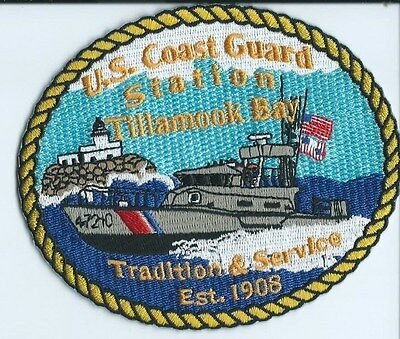USCG United States Coast Guard Patch Tillamook Bay tradition & svc 3-3/4X4-3/8