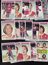 1975 Topps Montreal CANADIENS Team SET Lot of 17 NM/MT DRYDEN LaFLEUR SHUTT
