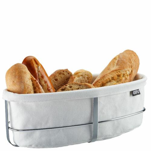 Gefu pan cesta oval blanco brötchenkorb cesta de tela cesta desayuno cesta