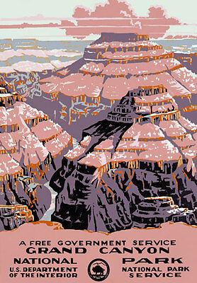T22 Vintage Grand Canyon National Park America Cartel viaje volver a imprimir A4