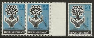 Haiti-1960-WRY-Alphabetisation-PAIR-CB25-Variety-SHIFTED-OVPT-Normal-F-VF-NH