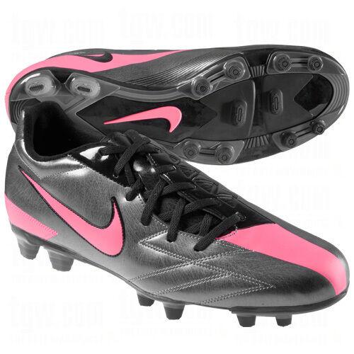 Nike Total 90 T90 Exacto IV FG 2011 Soccer Shoes Dark Gray / Red / Black