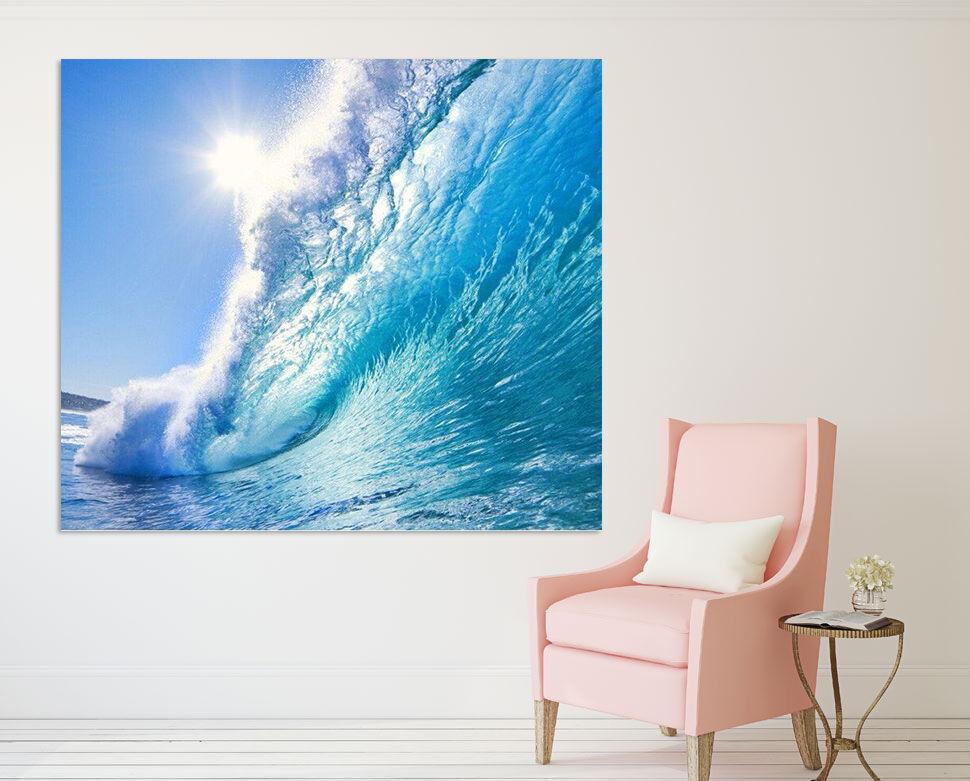 3D Blaue Meer Wellen Sonne 8545 Fototapeten Wandbild BildTapete AJSTORE DE Lemon