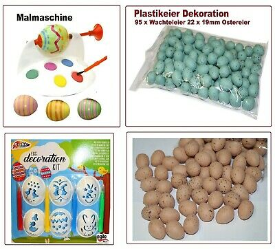 95 Wachteleier 22 x 19mm Ostereier Ostern Dekoration Plastik Künstliche Plastik