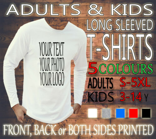 PERSONALISED UNISEX ADULTS STAG HEN KIDS LONG SLEEVED TEE T-SHIRT NEW CUSTOM