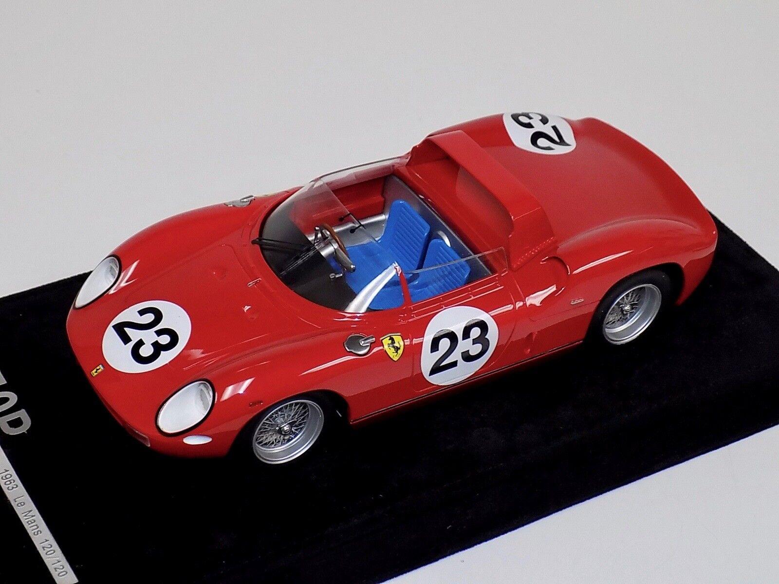 seguro de calidad 1 18 Ferrari 250 P 1963 1963 1963 Le Mans coche  23 Modelo  120 of120 f9 Base de Alcántara  Tienda 2018
