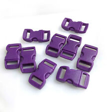 """12pcs 3//8/"""" Curved Side Release Plastic Buckle  for Paracord Bracelet Green"""