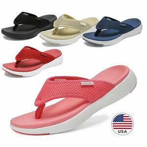 Women/'s Arch Support Soft Cushion Flip Flops Thong Sandals Slippers Beach Pool