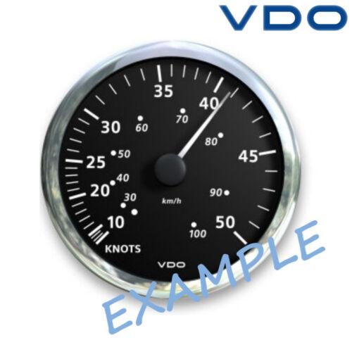 "VDO Viewline Pitot Geschwindigkeistmesser Boot 85mm 3/"" 10-43 kn weiß A2C31233200"
