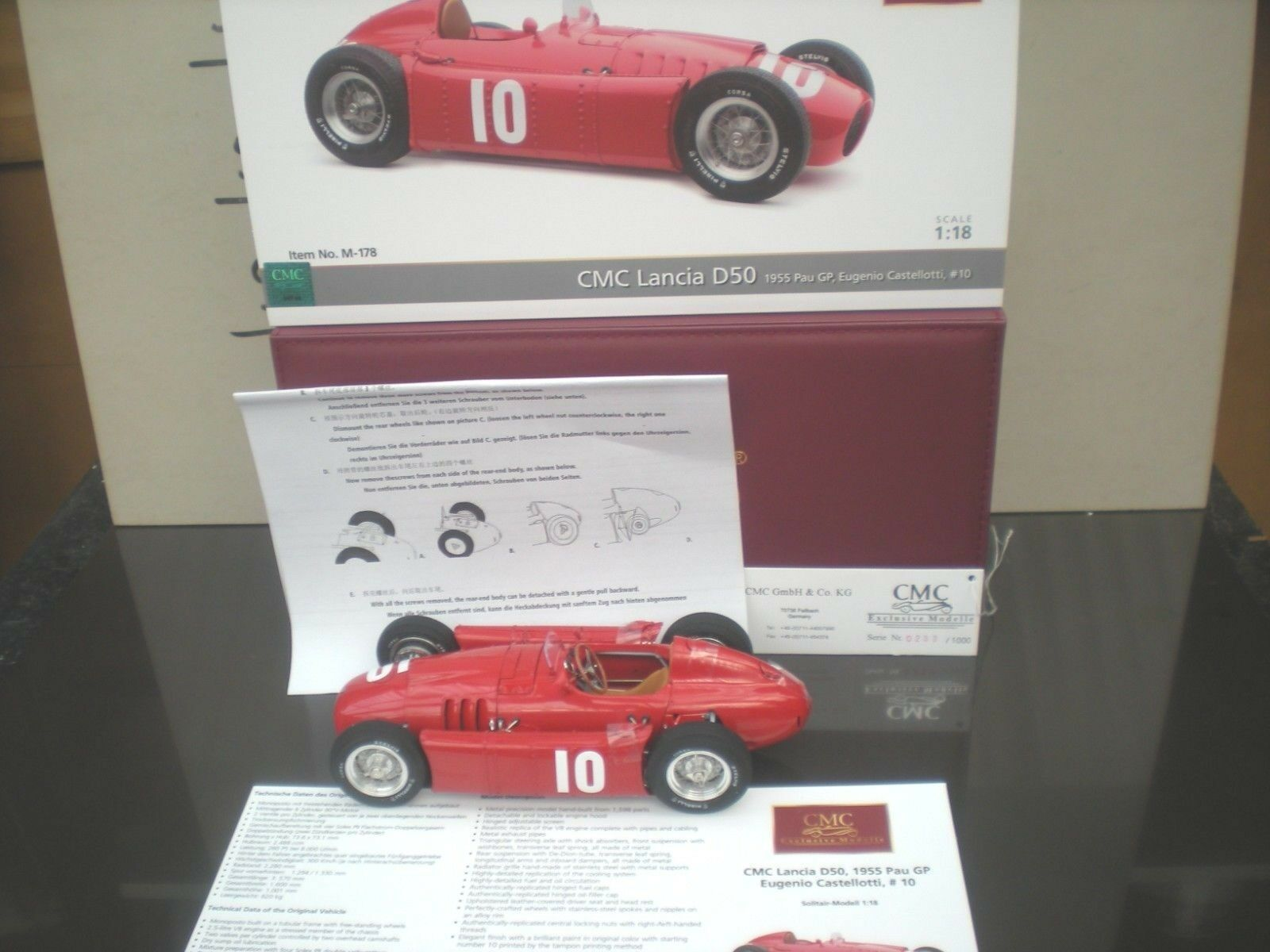 CMC M 178 LANCIA D50 1955 GP di PAU  10 Driver CASTELLOTTI 1 18