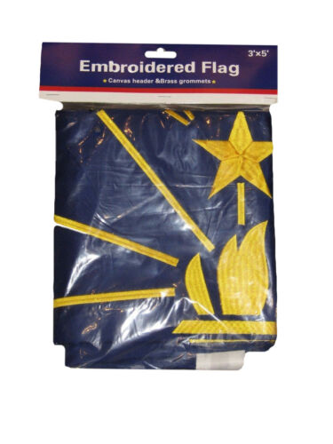 3x5 Embroidered Sewn Indiana State Double Sided Nylon Flag 3/'x5/' Heavy Duty R1
