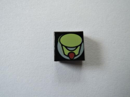 LOM Alien 7317 7303 LOM011 Rigel Lego 1 x Fliese 3070px1 schwarz  1x1 bedr