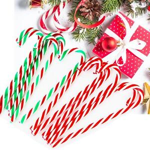 Candy Cane Christmas Tree.Details About 10x Christmas Acrylic 12cm Candy Cane Xmas Tree Hanging Decoration Ornaments