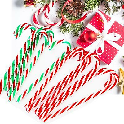 6pcs//12pcs//30pcs Acrylic Candy Cane Canes Christmas Tree Decorations 15cm