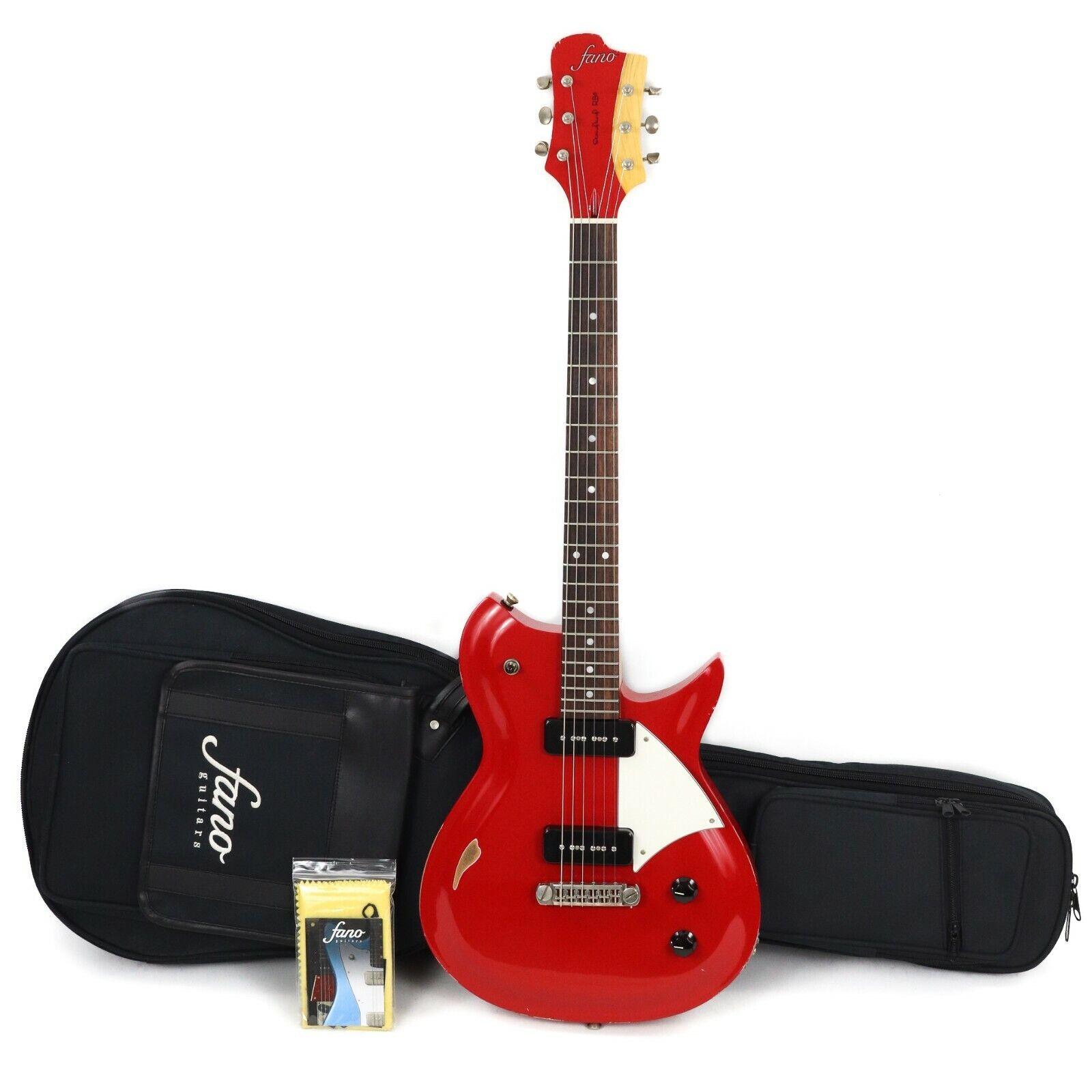 Fano RB6 Standard P90 Electric Guitar w  Gigbag - Dakota rot (Medium Distress)