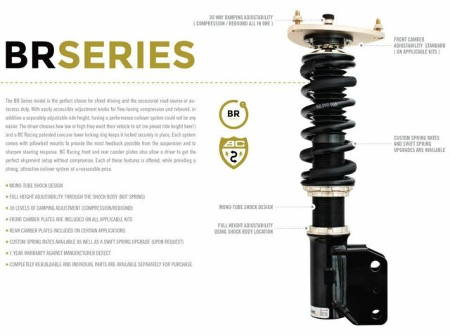 BC Racing BR Series Coilover Kit for 75-78 Nissan 280Z S30