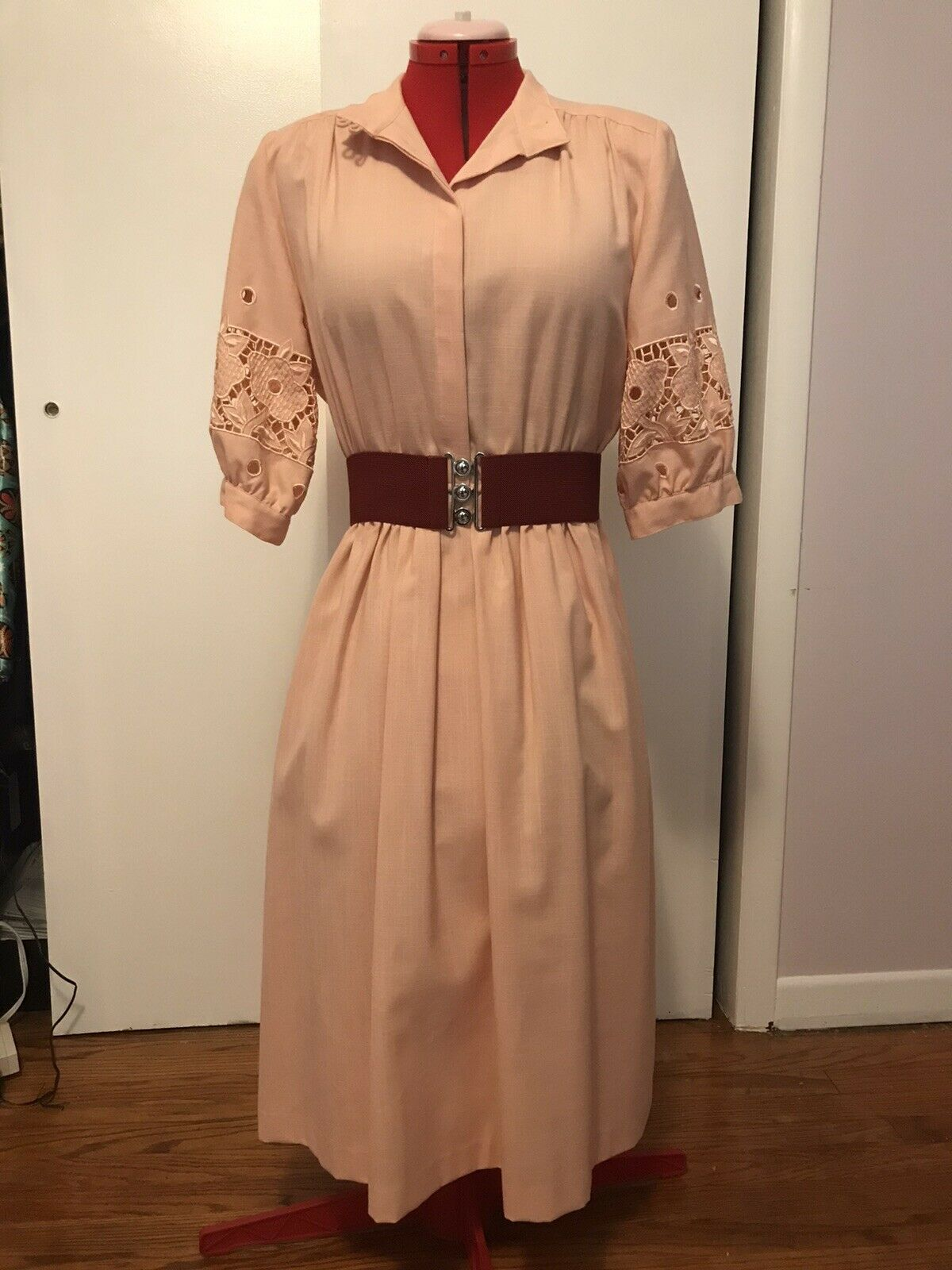 Vintage 1980s Does 40s Soutache Dress