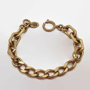 Juicy-Couture-Matte-Gold-Tone-Link-Chain-Bracelet-8-034