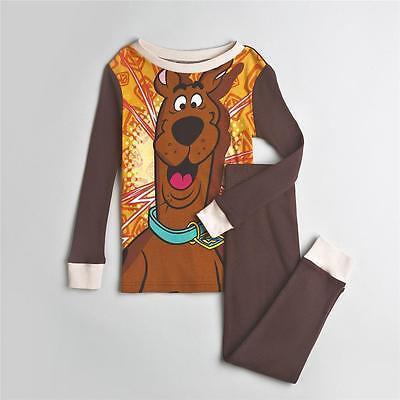 Boys Scooby Doo Brown Pajama Set Size 2T