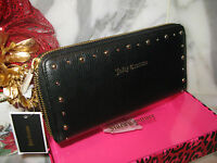 Juicy Couture Women's Black Leather Zippered Wallet/clutch. Authentic. New.