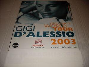 """GIGI D'ALESSIO - LOCANDINA TOUR """" UNO COME TE """"   34 x 48"""