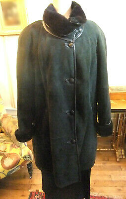 Mantel 34 IN Wildleder Schwarz ( Lamm Zurück) Jacques Jekel à Paris   eBay