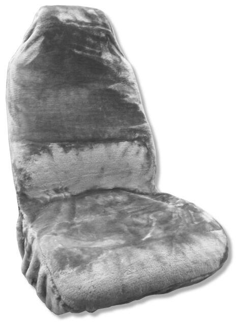 Faux Sheepskin Seat Cover Gray Synthetic Fleece Wool Plush Comfort Single