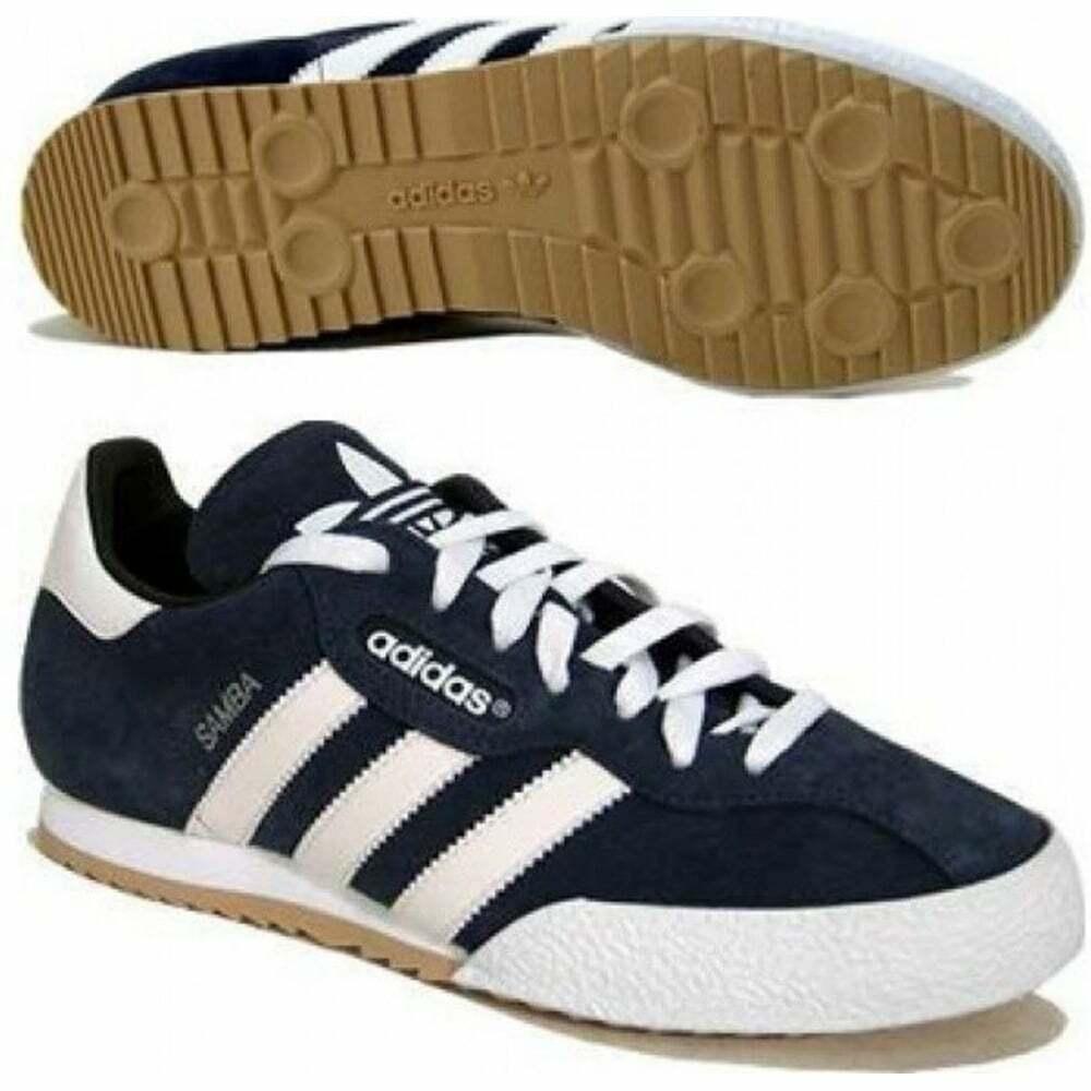 Adidas Samba Super Suede Navy   Weiß (Z20) 019332 Mens Trainers in All Größes